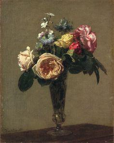 Flowers in a Vase, 1882. Henri Fantin-Latour