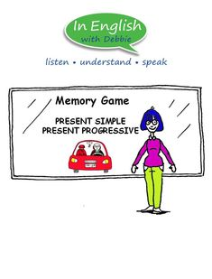 A fun memory game to reinforce Present Simple and Present Progressive sentences. Game Presents, Memory Games, Sentences, Classroom, Student, Memories, Simple, Fun, Frases