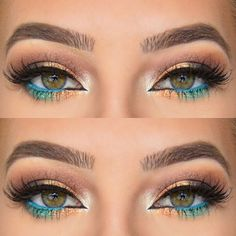 light blue eyeliner