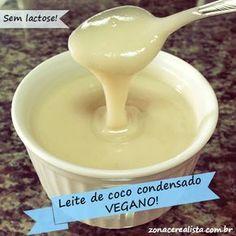 LEITE DE COCO CONDENSADO #VEGANO - 500 ml de leite de coco (não utilize a versão light) 1/2 xícara de chá de açúcar demerara orgânico.
