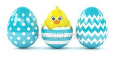 #Easter #eggs #chick #stockimage