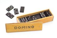 Vintage Black Domino Board Game