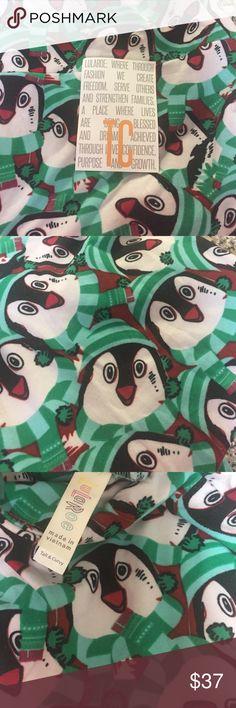 Lularoe Holiday leggings Lularoe holiday leggings! Penguin print. Tall and curvy NEW never been worn! LuLaRoe Pants Leggings