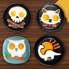 Funny Side Up Egg Molds (Various Designs) | GeekyGet