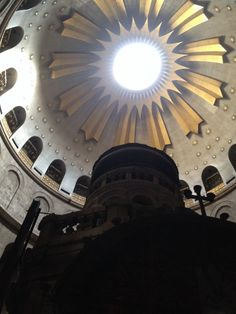 Ceiling above the tomb of Jesus Christ, Church of the Holy Sepulchre, Jerusalem ❤️