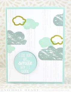 Smile When It's Raining Card by Nichole Heady for Papertrey Ink (July 2015)