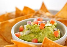 belly fat reducing Guacamole & Baked Tortilla Chips Recipe!   # Pin++ for Pinterest #
