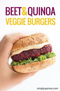 AMAZING  + HEALTHY these beet and quinoa veggie burgers are super easy to make and taste awesome!