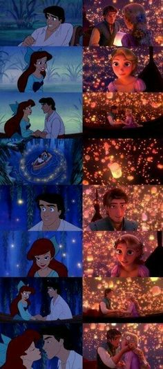 The Little Mermaid Eric and Ariel & Tanged Eugene and Rapunzel