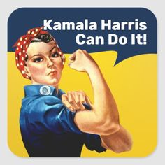 Inauguration Ceremony, Presidential Inauguration, Rosie The Riveter, We Can Do It, Kamala Harris, Vice President, Round Stickers, Custom Stickers, Activities For Kids