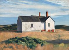 Ryder's House, 1933 by Edward Hopper on Curiator, the world's biggest collaborative art collection. American Realism, American Artists, Edward Hopper Paintings, Blog Art, Collaborative Art, Vintage Artwork, Artist Canvas, Canvas Art Prints, Painting Canvas