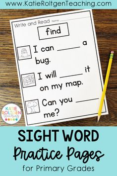 These interactive, printable sight word practice pages are perfect for small groups, centers, independent work, or morning work! Each page is dedicated to one sight word for repetition and extra practice. With two versions for differentiation, your preschool, kindergarten, or first grade students will love reading and writing their sight words while becoming confident readers!