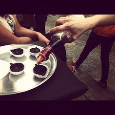 Ginja in chocolatte cup @ Obidos by Deep Soul Surfer, via Flickr