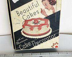 Cake decorating set vintage | Etsy Cake Decorating Set, Beautiful Cakes, Etsy Vintage, Pretty Cakes