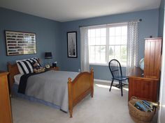 Blue Bedroom Paint | Calypso In The Country: My Son's Room - Before and After