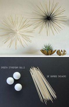 Sticks foam wall art DIY