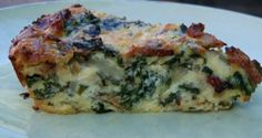 GAPS diet recipe - crustless chard quiche.