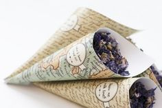 Cono de confetti para bodas, mapas vintage - Long Sunday