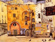 Naples by Mstislav Dobuzhinsky