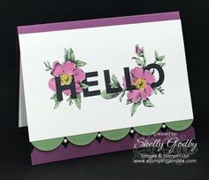 Stampin' Up! Floral Statements card designed by Shelly Godby of www.stampingsmiles.com with the Stampin' Up! Floral Statements Stamp Set