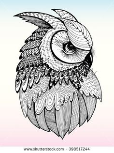 Find Portrait Owl Owls Head Abstract Bird stock images in HD and millions of other royalty-free stock photos, illustrations and vectors in the Shutterstock collection. Thousands of new, high-quality pictures added every day. Mandala Art, Owl Tattoo Drawings, Tattoo Bird, Zentangle, Owl Sketch, Owl Coloring Pages, Owl Head, Owl Artwork, Owl Photos