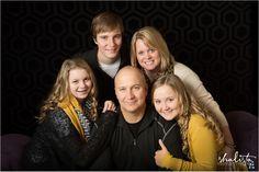 www.shalista.com Shalista Photography Sioux Falls Family Portrait Photographer, Indoor Family Photos, Studio Family Portraits, Family Posing, Family Colors Photos,