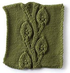 Embossed vine and leaves~ such a pretty pattern for blanket squares.
