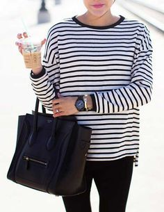 camisa-listrada Chique no  http://viveraos60.com.br