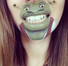 maquillages de bouche en personnages de cartoon