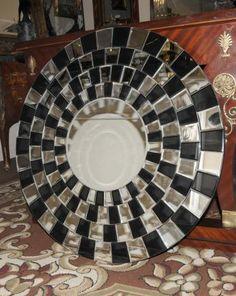 Round Art Deco Glass Mirror Interior Design | eBay
