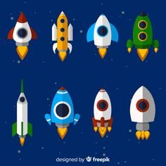 Lovely spaceship collection with flat design Free Vector Painting For Kids, Art For Kids, Iron Man 2008, Box Frame Art, Design Plano, Spaceship Art, Space Illustration, Abstract City, Space Party