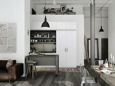 loft living (via Masculine Design Elements)