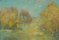 Emil Carlsen Autumn Morning - Fading Moon (also known as Late September), c.1906  #Artist #EmilCarlsen #Venice #paintings #painter #PaintingsofVenice #EmileCarlsen #SorenEmileCarlsen #SorenEmilCarlsen #AmericanImpressionism #Impressionism #StillLife #StillLifePainter #StillLives #LandscapePainting #MarinePainting #Trees #PaintingsofTrees #Forest  Learn about artist Emil Carlsen at http://emilcarlsen.org