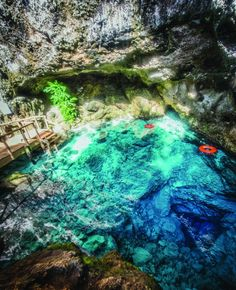 Hoyo Azul at Scape Park, punta Cana Vacation Places, Vacation Destinations, Vacation Trips, Dream Vacations, Vacation Spots, Places To Travel, Places To See, Romantic Vacations, Romantic Travel