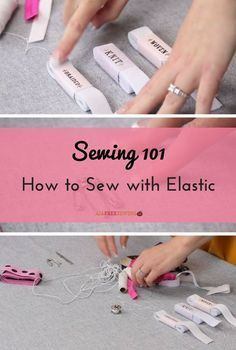 Sewing Techniques Couture Sewing How to Sew with Elastic Sewing Hacks, Sewing Tutorials, Sewing Crafts, Sewing Tips, Sewing Basics, Basic Sewing, Sewing Ideas, Learn Sewing, Tutorial Sewing