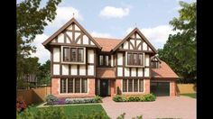 Cute outside detailing Tudor Architecture, Oak Panels, Cabin, Mansions, House Styles, Home Decor, Decoration Home, Room Decor, Cabins