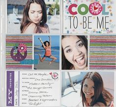 POCKET PAGES Teen mambi cool scrapbook layout.