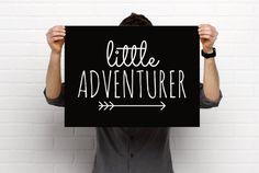 Sizeable/Printable Art Print, Little Adventurer, Quote, Arrow, Minimalist, Nursery/Child's Room Decor, PDF & PNG, Digital Download by BrightAndBonny on Etsy
