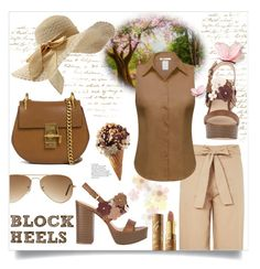 """""""Walk in the spring park"""" by ela79 ❤ liked on Polyvore featuring Topshop, Ray-Ban, Chloé and tarte"""