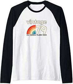 40th Birthday Gift Retro vintage classic 40 years old 1979 Raglan Baseball Tee Unique Birthday Gifts, 40th Birthday Gifts, Raglan Baseball Tee, 40 Years Old, Jewelry Stores, Retro Vintage, Classic, Clothes, Tops