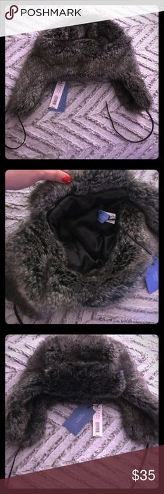 Simply Vera Wang Winter Faux Fur Hat Faux fur women's trapper hat. Never worn with tags. Simply Vera Vera Wang Accessories Hats