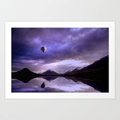 #society6 #art #print #tapestry #airballoon #Iceland #mountain #landscape #clouds #shop