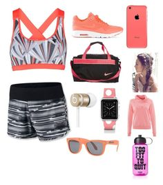 """Rose coral workout 4"" by biancamcwatt ❤ liked on Polyvore featuring Y.A.S, NIKE, ESPRIT, Casetify, Beats by Dr. Dre, Wize & Ope and Victoria's Secret PINK"