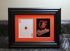Baltimore Orioles 5x7 Blackjack Diamonds Authentic Playing Card Display by SinCityDisplays