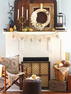 19 Ways To Decorate Your Mantel This Fall
