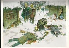 Roman Emperor Trajans war with the Dacians ~ the massacre of a Dacian village by Legio XXX - art by Angus McBride