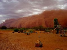 Red Dust Storm In New South Wales, Australia Adelaide South Australia, Western Australia, Australia Travel, Dust Storm, Land Of Oz, Sky And Clouds, Extreme Weather, Natural Disasters, Scenery