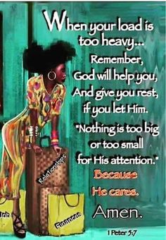 Handle It Peter For The Soul. Anita Hewitt ❤ ❤ ♡ Casting all your care upon him; for he careth for you. Religious Quotes, Spiritual Quotes, Positive Quotes, Positive Thoughts, Faith Quotes, Bible Quotes, Bible Scriptures, Black Women Quotes, Queen Quotes