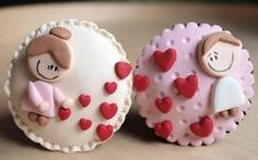 Valentine cupcakes / valentijnsdag gepind door www.hierishetfeest.com