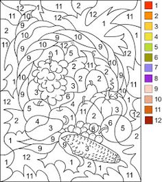 Nicoles Free Coloring Pages COLOR BY NUMBER Thanksgiving Page